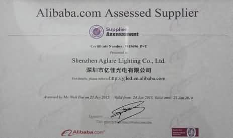Congratulate Shenzhen Aglare Lighting Co.,Ltd through Alibaba.com Assessde Supplier